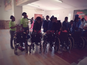 Young reporters gave 67minutes to a community Home for Disabled people