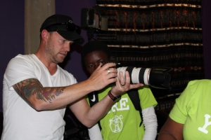 Photography mentor and young reporter
