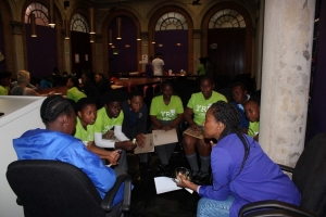 WITS Writing Centre experts interacting with young reporters