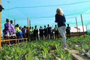 Young reporters learning about food security at WITS